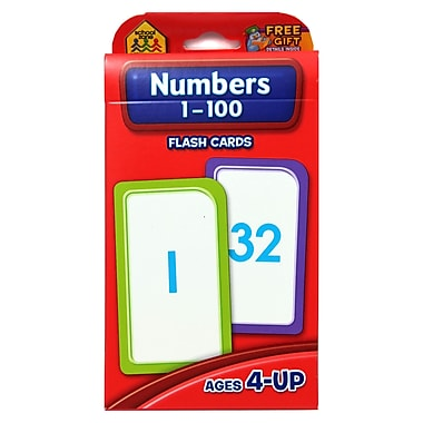 School Zone® Double Sided Flash Card, Numbers 1 - 100