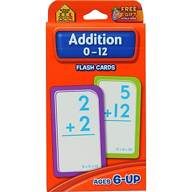 School Zone® Double Sided Flash Card, Addition 0 - 12
