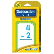 School Zone® Double Sided Flash Card, Subtraction 0 - 12
