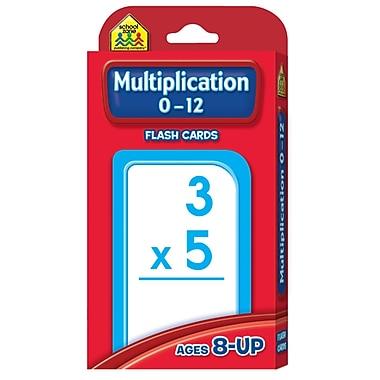 School Zone Flash Card, Multiplication 0 - 12, 440/Pack (SZP04008)