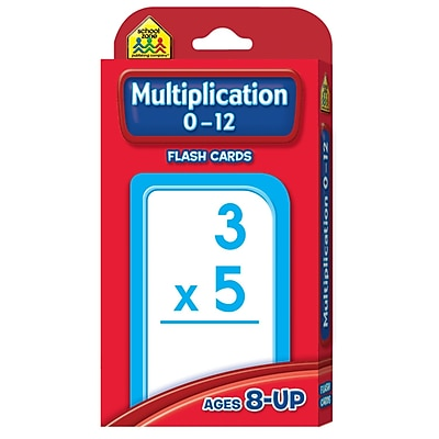 School Zone® Flash Card, Multiplication 0 - 12 (SZP04008)