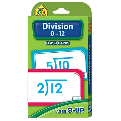 School Zone® Flash Card, Division 0 - 12