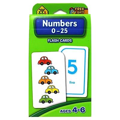 School Zone® Flash Card, Numbers 0 - 25
