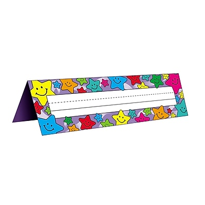 """""Teacher Created Resources Tented Name Plates, 7"""""""" x 11 1/2"""""""", Happy Stars"""""" 900263"