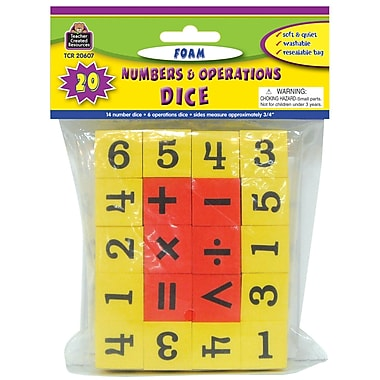 Teacher Created Resources Foam Numbers & Operations Dice, Grades K-4