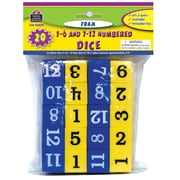 Teacher Created Resources Foam Numbered Dice Kindergarten-4, Blue/Yellow, 10/Pack (TCR20609)