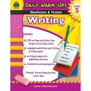 Teacher Created Resources Daily Warm-Ups Nonfiction & Fiction Writing Book, Grades 5