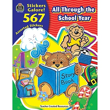 Teacher Created Resources All Through The School Year Sticker Book, 1134/Pack (TCR4229)