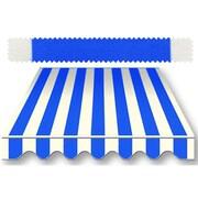 "Awntech® 7' Charleston® Window/Entry Awning, 18"" x 36"", Bright Blue/White"