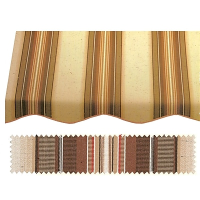 "Awntech® 6' Charleston® Window/Entry Awning, 24"" x 36"", Brown/Linen/Terra"