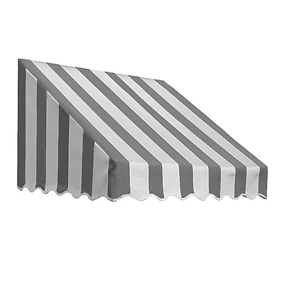 "Awntech® 14' San Francisco® Window/Entry Awning, 44"" x 36"", Gray/White"