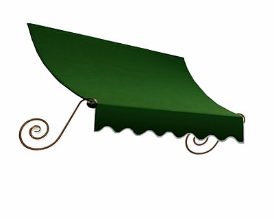 "Awntech® 16' Charleston® Window/Entry Awning, 44"" x 36"", Forest"