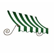 "Awntech® 18' Charleston® Window/Entry Awning, 24"" x 36"", Forest/White"