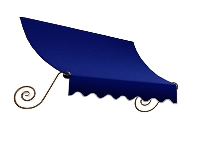"Awntech® 18' Charleston® Window/Entry Awning, 31"" x 24"", Navy"