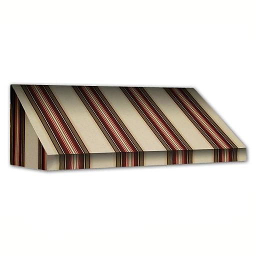 """Awntech® 14' New Yorker® Window/Entry Awning, 58"""" x 36"""", Brown/Linen/Terra"""