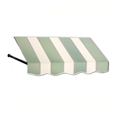 "Awntech® 20' Dallas Retro® Window/Entry Awning, 31"" x 32"", Sage/Linen/Cream"
