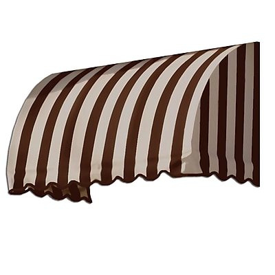 "Awntech® 8' Savannah® Window/Entry Awning, 44"" x 36"", Brown/Tan"