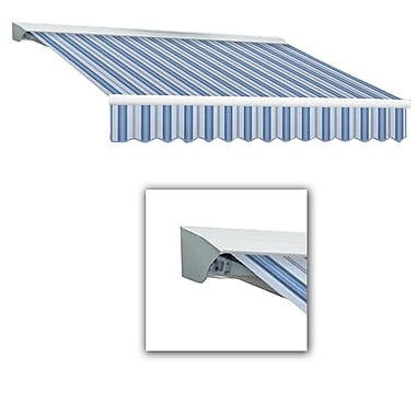 Awntech® Destin® LX Manual Retractable Awning, 12' x 10', Bright Blue/Gray/White