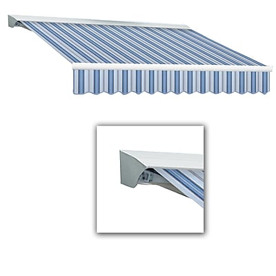 Awntech® Destin® LX Right Motor Retractable Awning, 8' x 7', Bright Blue/Gray/White