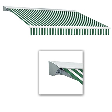 Awntech® Destin® EX Left Motor Retractable Awning, 8' x 7', Forest/White