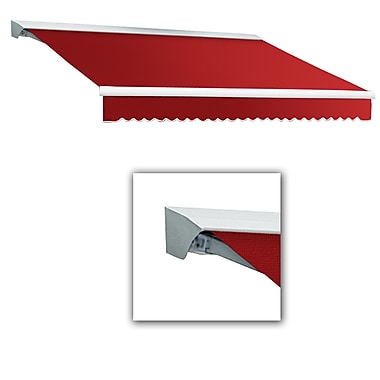 Awntech® Destin® LX Left Motor Retractable Awning, 10' x 8', Bright Red