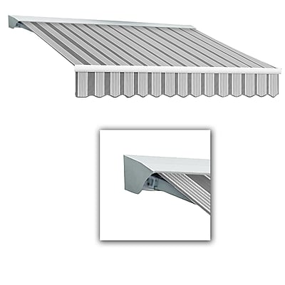 Awntech® Destin® LX Manual Retractable Awning, 12' x 10', Gun/Gray/White