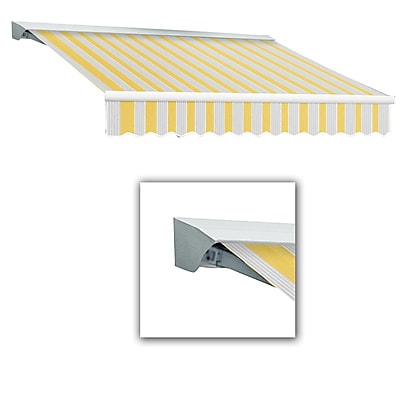 Awntech® Destin® LX Manual Retractable Awning, 12' x 10', Light Yellow/Gray