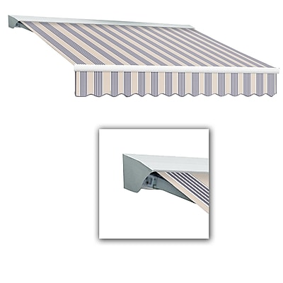 Awntech® Destin® LX Manual Retractable Awning, 12' x 10', Dusty Blue Multi