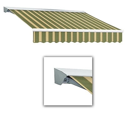 Awntech® Destin® LX Right Motor Retractable Awning, 12' x 10', Olive/Tan