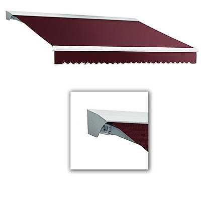 Awntech® Destin® LX Left Motor Retractable Awning, 12' x 10', Burgundy