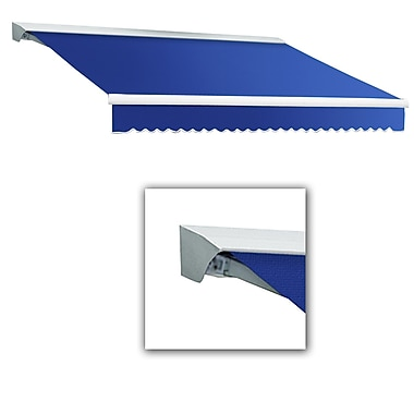 Awntech® Destin® LX Right Motor Retractable Awning, 10' x 8', Bright Blue
