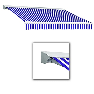 Awntech® Destin® LX Left Motor Retractable Awning, 12' x 10', Bright Blue/White
