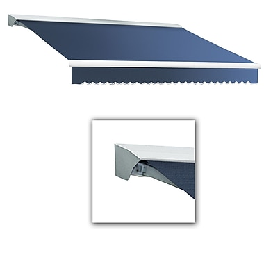 Awntech® Destin® LX Left Motor Retractable Awning, 8' x 7', Dusty Blue