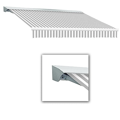 Awntech® Destin® LX Left Motor Retractable Awning, 12' x 10', Gray/White