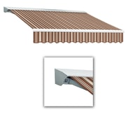 Awntech® Destin® LX Left Motor Retractable Awning, 10' x 8', Brown/Linen/Terra