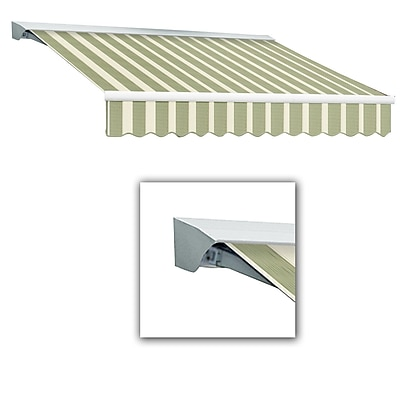 Awntech® Destin® LX Manual Retractable Awning, 8' x 7', Sage/Linen/Cream