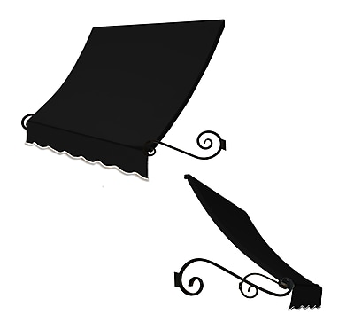 "Awntech® 6' Charleston® Window/Entry Awning, 31"" x 36"", Black"