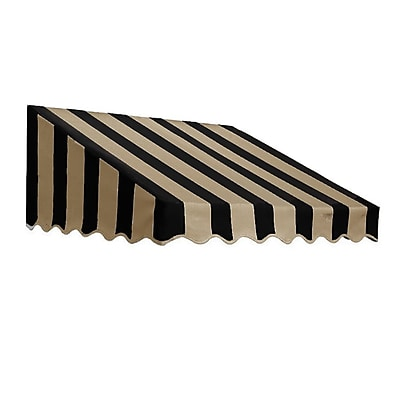 "Awntech® 20' San Francisco® Window/Entry Awning, 24"" x 42"", Black/Tan"