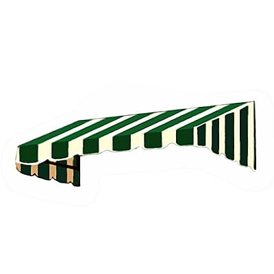 "Awntech® 18' San Francisco® Window/Entry Awning, 24"" x 42"", Forest/White"