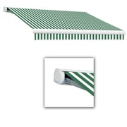 Awntech® Key West Full-Cassette Right Motor Retractable Awning, 10' x 8', Forest/White