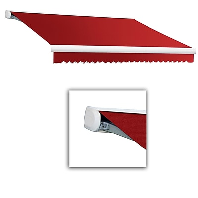 Awntech® Key West Full-Cassette Right Motor Retractable Awning, 14' x 10', Bright Red