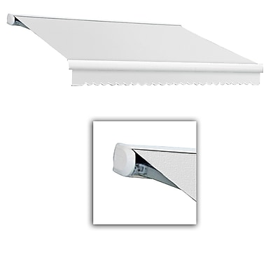 Awntech® Key West Full-Cassette Left Motor Retractable Awning, 20' x 10', Natural White