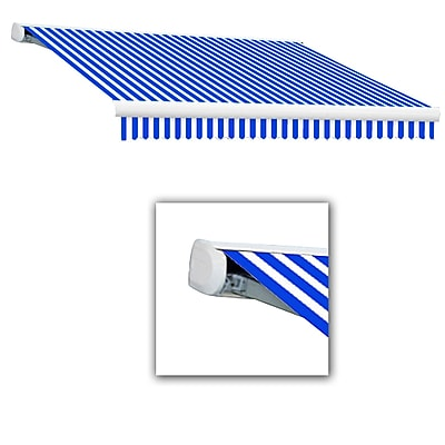 Awntech® Key West Manual Retractable Awning, 20' x 10', Bright Blue/White