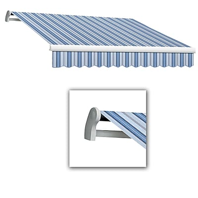 Awntech® Maui® LX Left Motor Retractable Awning, 12' x 10', Bright Blue/Gray/White