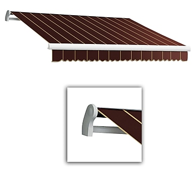 Awntech® Maui® LX Left Motor Retractable Awning, 12' x 10', Burgundy Pinstripe