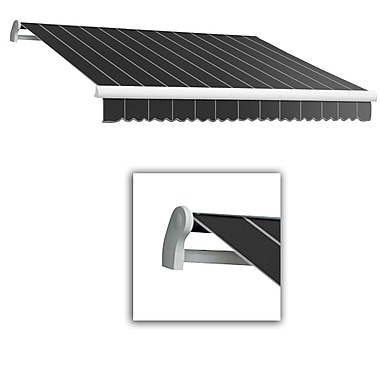 Awntech® Maui® LX Left Motor Retractable Awning, 10' x 8', Gun Pinstripe