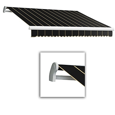 Awntech® Maui® LX Right Motor Retractable Awning, 12' x 10', Black Pinstripe
