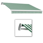 "Awntech® Maui® LX Left Motor Retractable Awning, 14' x 10' 2"", Forest/White"