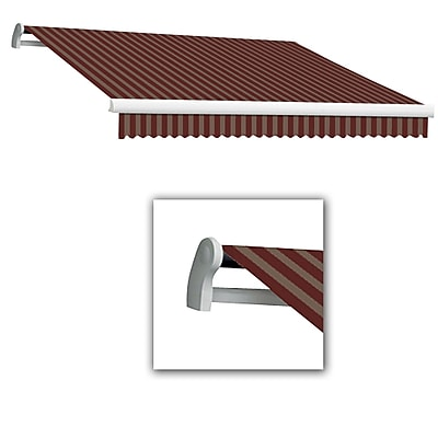 Awntech® Maui® EX Left Motor Retractable Awning, 12' x 10', Burgundy/Tan