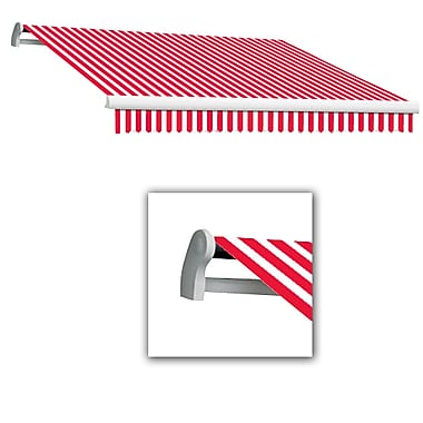 Awntech® Maui® LX Right Motor Retractable Awning, 12' x 10', Red/White